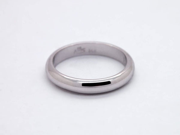 14K Gold Wedding Band for Men 4mm Thick Gold Ring For Men White Gold
