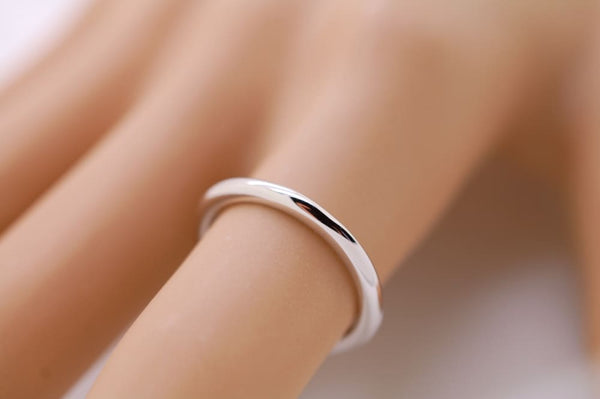 2mm White Gold Wedding Band Women Comfort Fit 2mm 14K Gold Wedding Ring For Women - Fine Jewelry by Anastasia Savenko