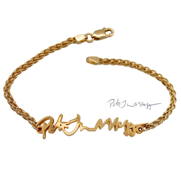 Custom Memorial Bracelets to Remember Loved Ones 14K Gold Remembrance Jewelry - Fine Jewelry by Anastasia Savenko