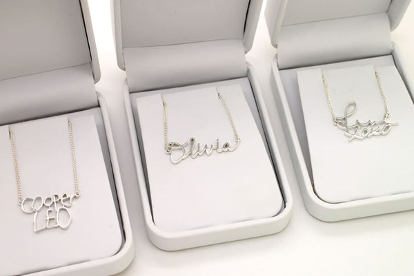 Double Name Necklace: Childrens Name Necklaces, Two Name Necklace - Fine Jewelry by Anastasia Savenko