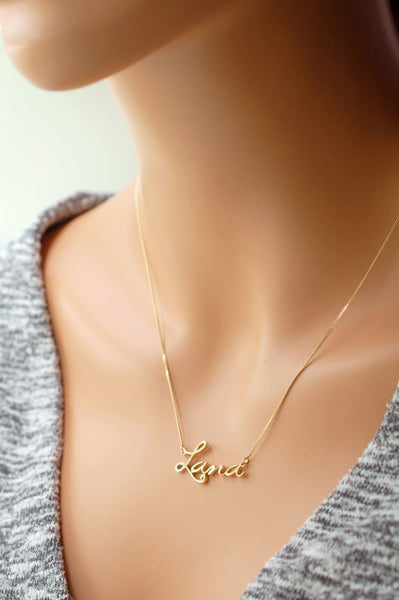 Gold Signature Necklace: Your Actual Signature In 14k Gold - Fine Jewelry by Anastasia Savenko