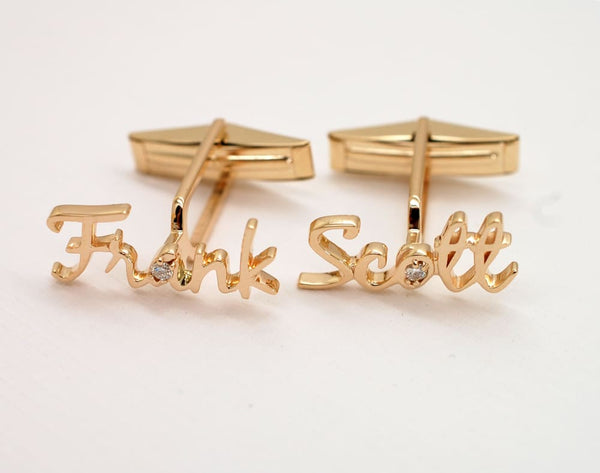 Personalized Cufflinks with Handwriting custom sterling silver or solid gold Accessories
