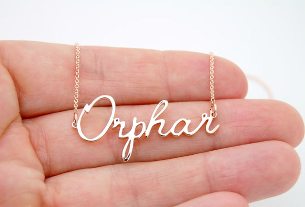Personalized Gold Necklace, Handwritten Keepsake