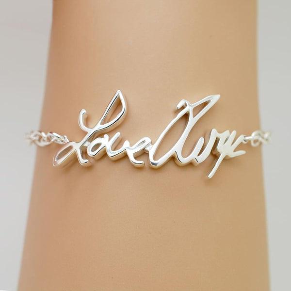 Personalized Signature Bracelet in Sterling Silver - Fine Jewelry by Anastasia Savenko