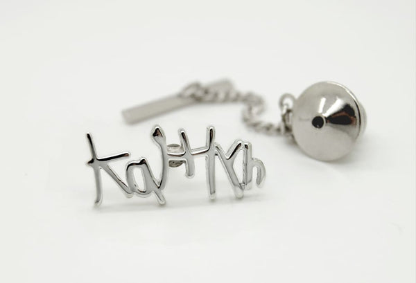 Personalized Tie Tack with Handwriting: Jewelry Gifts for Men, Sterling Silver - Fine Jewelry by Anastasia Savenko