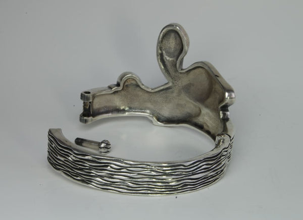 Swan Bracelet, Sterling Silver Cuff Bracelet with a Sculpted Bird - Fine Jewelry by Anastasia Savenko
