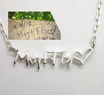 What Quality Of Handwritten Sample I Need For Custom Signature Jewelry