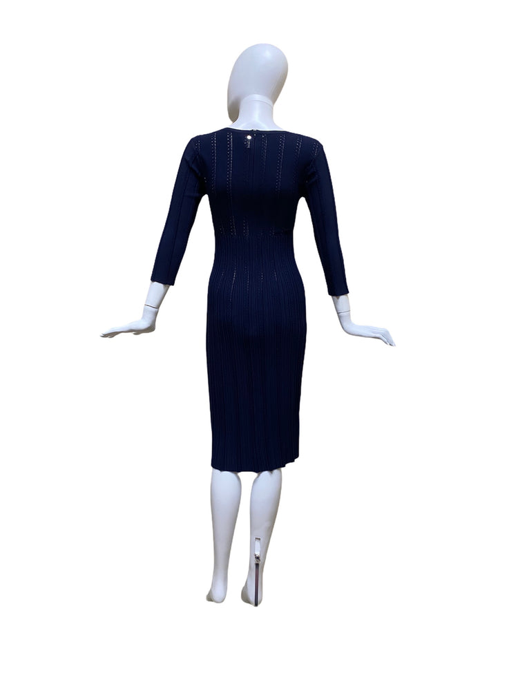 Load image into Gallery viewer, Alaïa Navy Blue Dress, Size 40