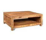 Table Basse Industrielle En Bois - Decoration Industrielle