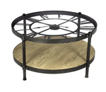 Table Basse Industrielle <br> Horloge Chrono