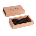 Black Pre-tied Bowtie with Gift Box | Groomsman Gear