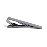 Black Tie Clip - Chrome Finish