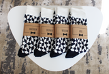 Navy & White Funky Socks | Men's Size 7-12