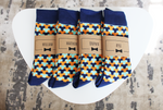 Blue & Orange Funky Socks | Men's Size 7-12