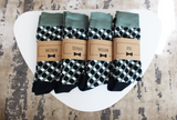 Green & Dark Navy Funky Socks | Men's Size 7-12