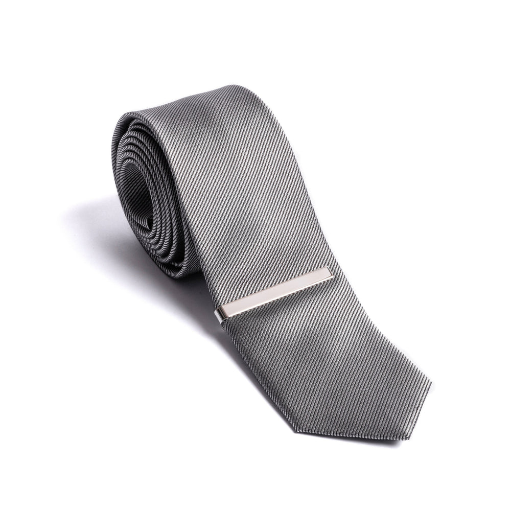 Silver Tie Clip - Chrome Finish