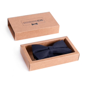 Navy Bow Tie + Gift Box