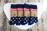 USA American Flag Groomsmen Socks with Personalized Labels by Groomsman Gear