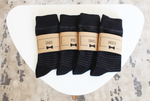 Black Striped Socks | Men's Size 7-12