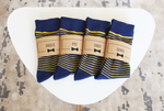 Blue Striped Socks | Men's Size 7-12