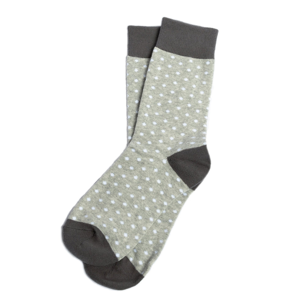 Grey Polka Dot Groomsmen Socks