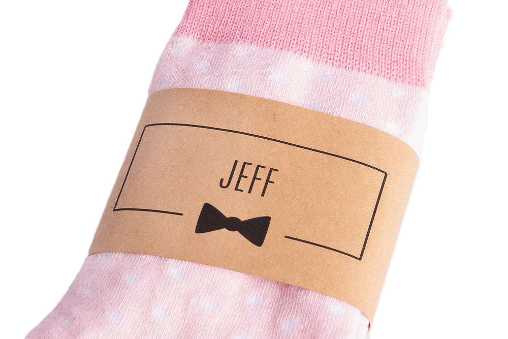 Pink Polka Dot Groomsmen Socks