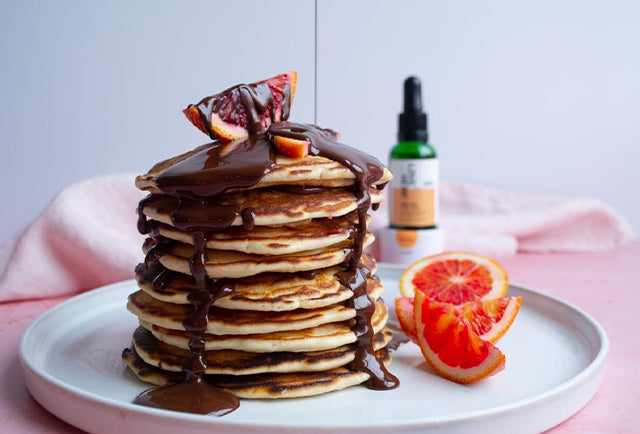 Pancake Day: CBD Blood Orange and Chocolate Ganache Pancakes