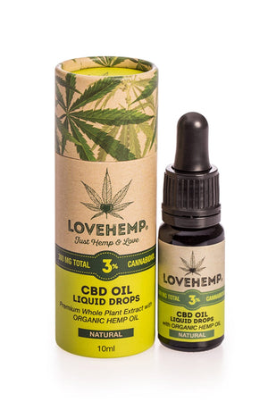Love Hemp CBD Oil 10ml 3% - 300mg CBD *Discontinued line - Love Hemp UK