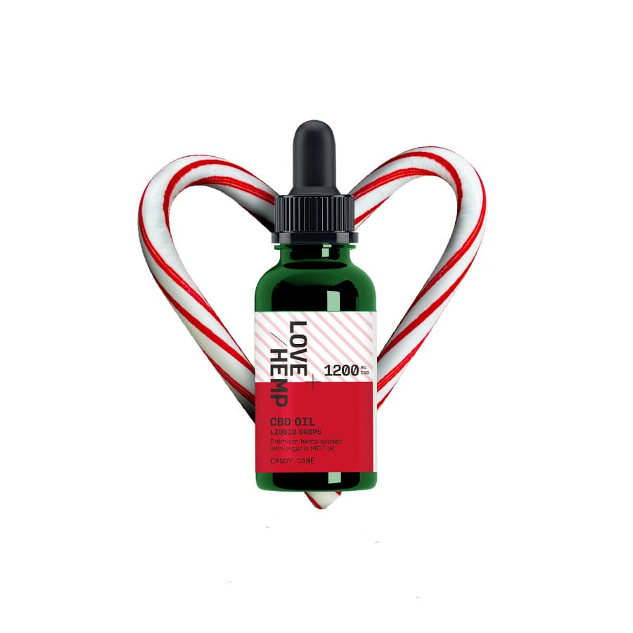 Load image into Gallery viewer, Love Hemp® Christmas Edition CBD Liquid Oral Oil Drops 1,200mg CBD - Strong / 4% / 30ml
