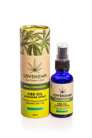 Love Hemp CBD Oil Spray 30ml - 400mg CBD *Discontinued line - Love Hemp UK