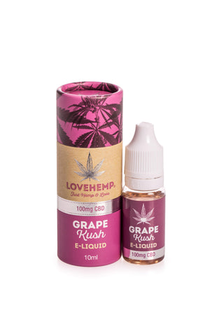 Love Hemp CBD Infused E Liquid 10ml - 50mg to 300mg CBD - Love Hemp UK