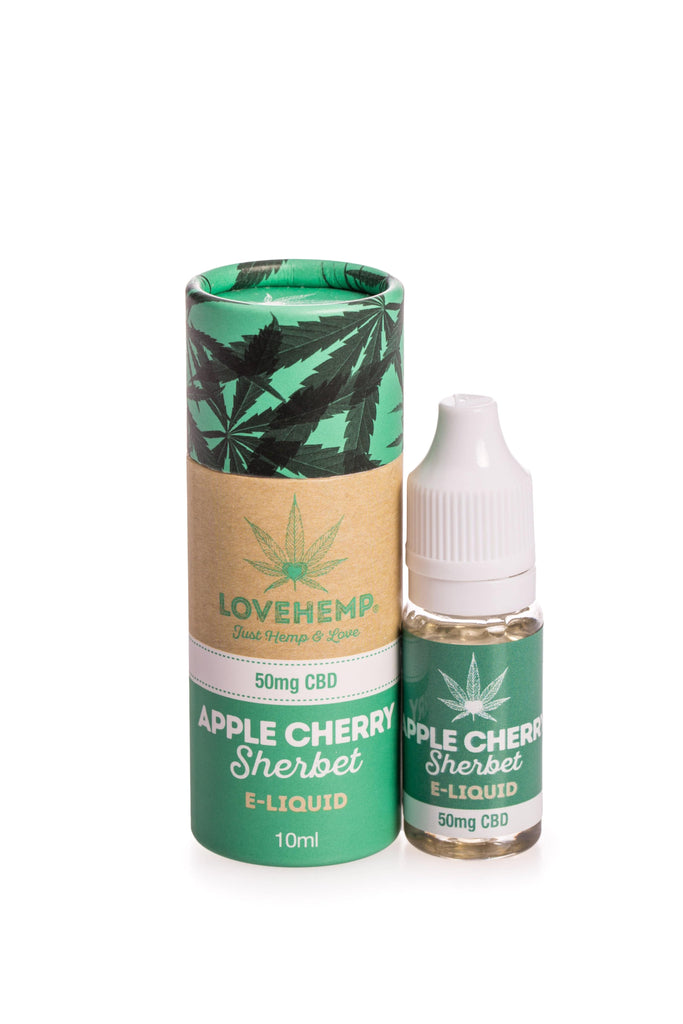 Love Hemp CBD Infused E-Liquid - 10ml - 50mg to 300mg CBD strengths available - 5 Flavours - Love Hemp UK