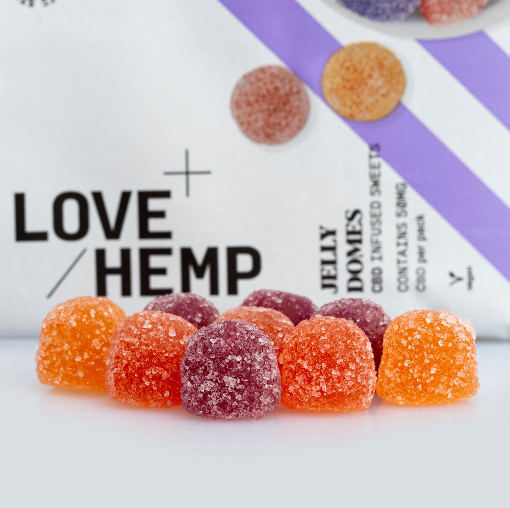 Load image into Gallery viewer, Love Hemp® CBD Jelly Domes - 50mg CBD / 10 Jelly Domes