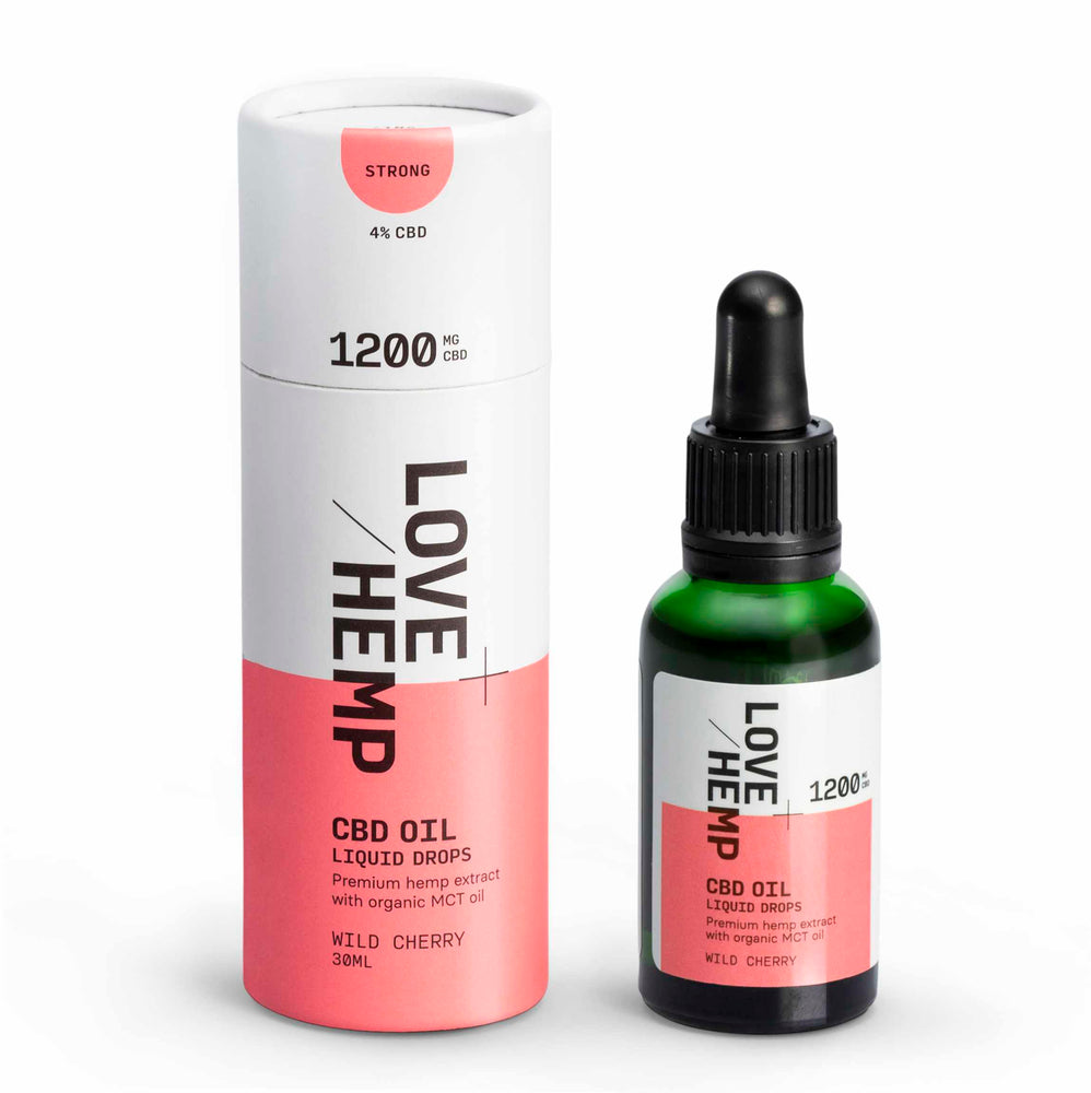 Love Hemp® CBD Liquid Oral Oil Drops 1,200mg CBD - Strong / 4% / 30ml