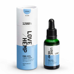 Load image into Gallery viewer, Love Hemp® CBD Liquid Oral Oil Drops 1,200mg CBD - Strong / 4% / 30ml