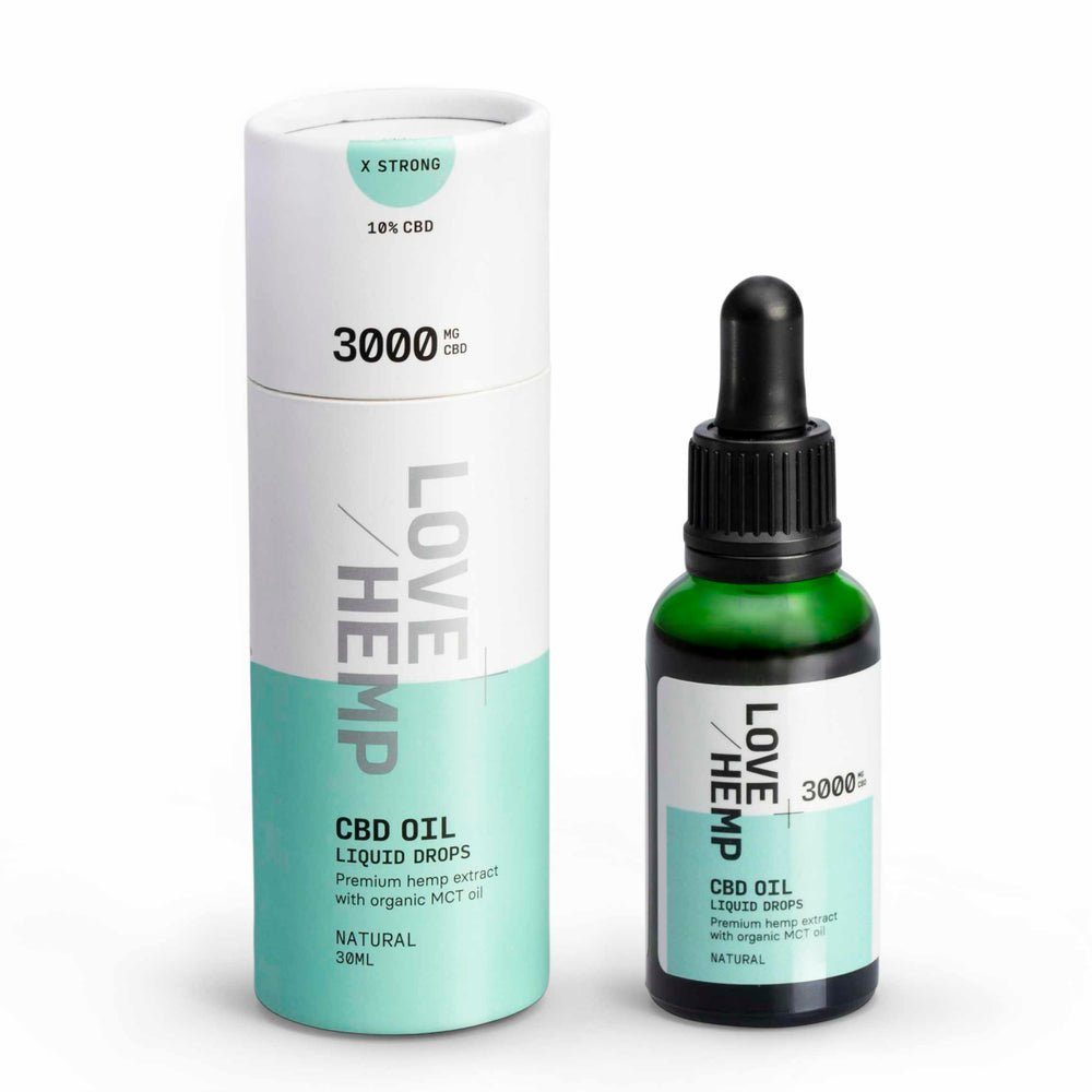 Love Hemp® CBD Liquid Oral Oil Drops 3,000mg CBD - Extra Strong / 10% / 30ml