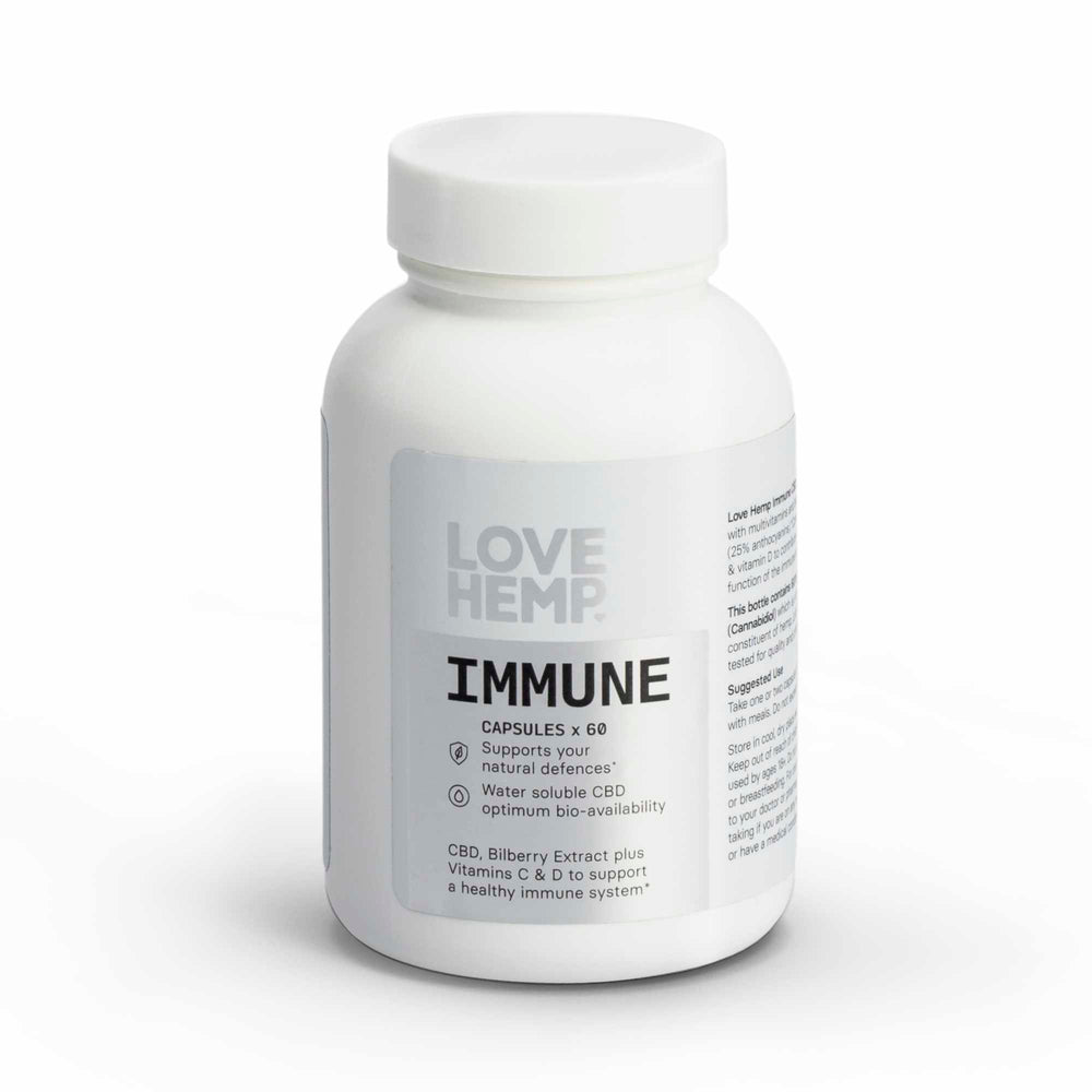 Love Hemp Immune CBD Vegan Capsules - 600mg CBD
