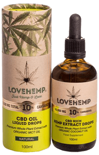 Love Hemp CBD Oil - 100ml - HUGE 10,000mg CBD - Love Hemp UK
