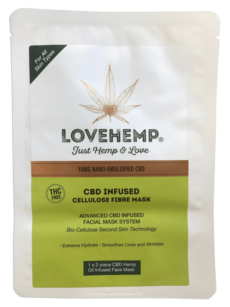 Love Hemp CBD Cellulose Fibre Mask - (Nano-Emulsified) - Love Hemp UK