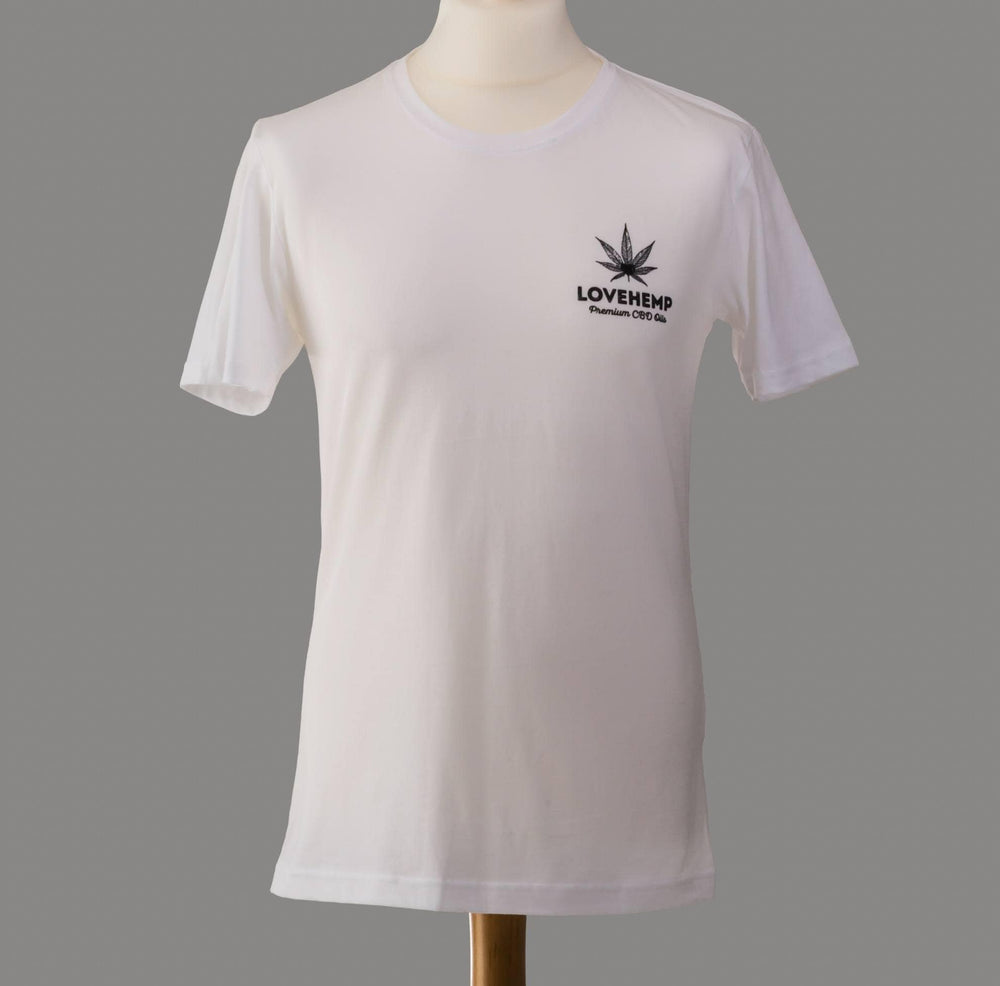 Load image into Gallery viewer, Love Hemp Exclusive T Shirt - Black & White available - Love Hemp UK
