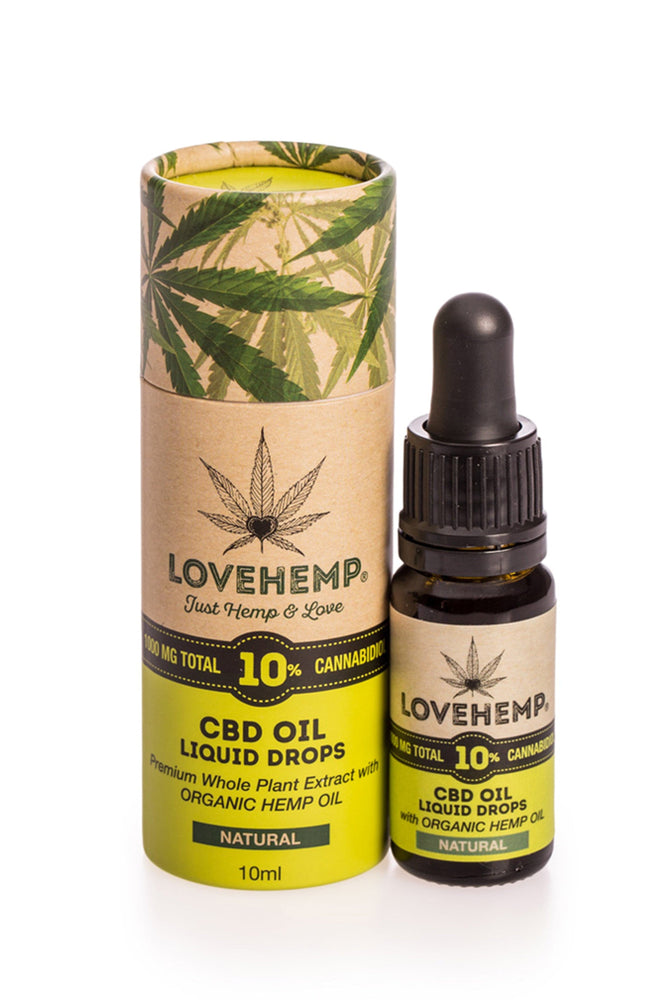 Love Hemp CBD Oil 10ml - 10% (1,000mg CBD) - Love Hemp UK