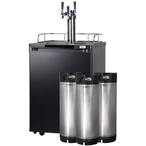 KEGCO HOME BREW KEGERATOR - BLACK CABINET AND STAINLESS STEEL DOOR (HBK209S-3) - Bennet Hill