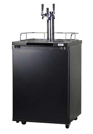 KEGCO TRIPLE FAUCET KOMBUCHA KEG COOLER WITH BLACK CABINET AND DOOR (KOM20B-3) - Bennet Hill