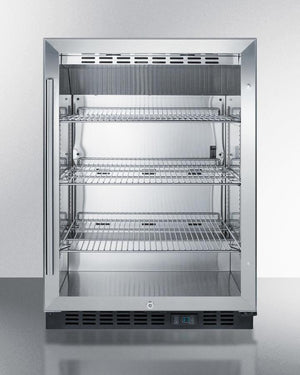 """Summit 24"""" Wide Built-In Beverage Center (SCR610BLCSS) - Bennet Hill"