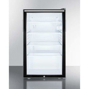 "Summit 20"" Wide All-Refrigerator (SCR450L7TB) - Bennet Hill"
