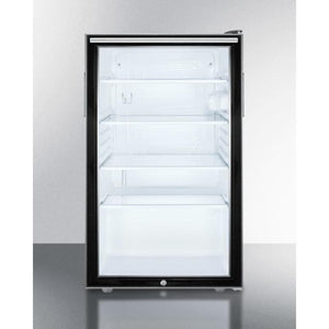 "Summit 20"" Wide All-Refrigerator ( SCR500BL7HH ) - Bennet Hill"