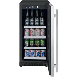 "24"" Wide FlexCount Series 56 Bottle Single Zone Stainless Steel Left Hinge Wine Refrigerator (VSWR56-1SSLN) - Bennet Hill"