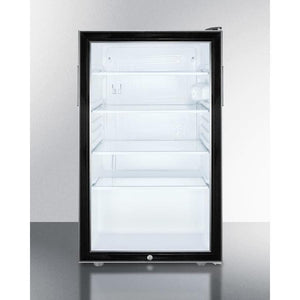 "Summit 20"" Wide All-Refrigerator SCR500BL7 - Bennet Hill"