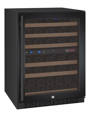 "24"" Wide FlexCount Series 56 Bottle Dual Zone Black Right Hinge Wine Refrigerator (VSWR56-2BWRN) - Bennet Hill"
