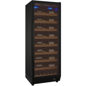 "24"" Wide Vite Series 115 Bottle Single Zone Black Right Hinge Wine Refrigerator (YHWR115-1BRN) - Bennet Hill"